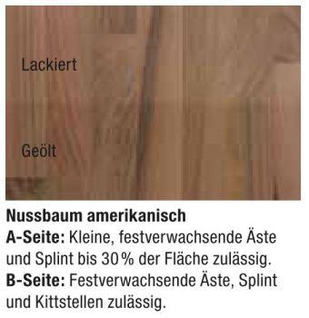 massivholzplatte nussbaum gel nder f r au en. Black Bedroom Furniture Sets. Home Design Ideas
